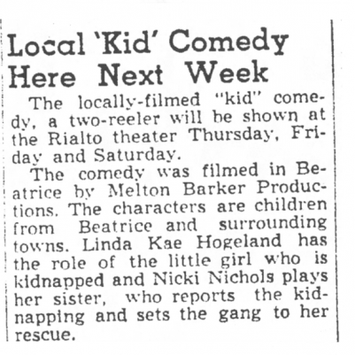 Beatrice Daily Sun, June 15, 1949, courtesy of James Breig