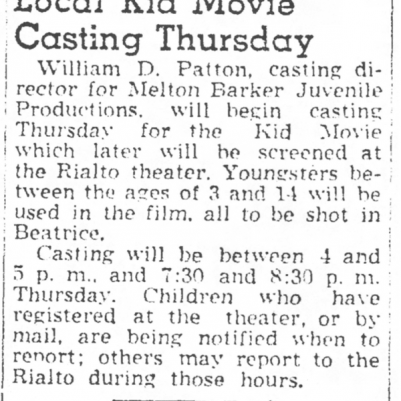 Beatrice Daily Sun, May 4, 1949, courtesy of James Breig