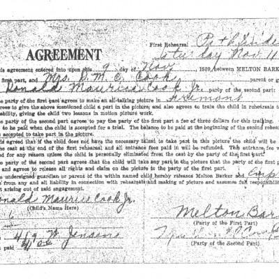 Agreement for Benton, Nebraska version 1939, courtesy of Terry Ronker