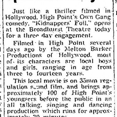 High Point Enterprise, July 29, 1941