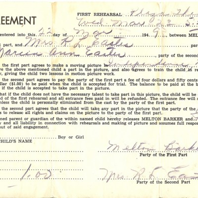 Agreement for Independence, Missouri version 1949, courtesy of Tina Thompson