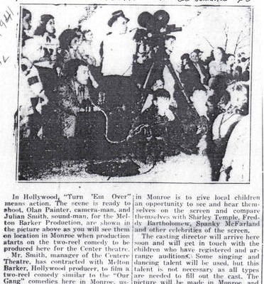 The Monroe Journal, July 20, 1941, page 3, courtesy of Patricia Poland, Union County Public Library