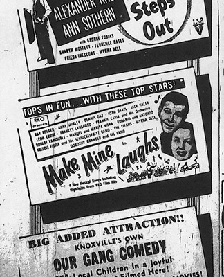 The Knoxville Journal, October 23, 1949, p.9-D, courtesy of the Tennessee Archive of Moving Image and Sound