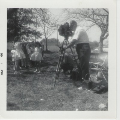 Melton filming May 1966 unknown location, courtesy of Jim Ponder