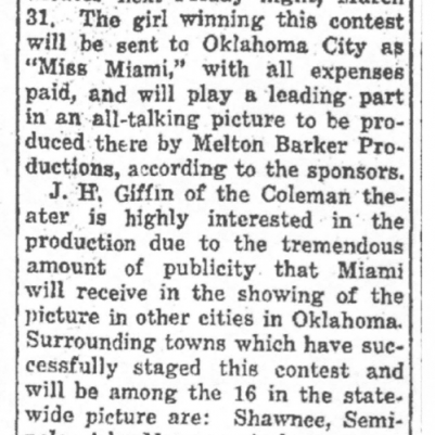Miami Daily News-Record (OK), March 26, 1933, courtesy of James Breig