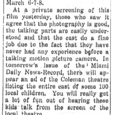 Miami Daily News-Record (OK), March 4, 1947, courtesy of James Breig