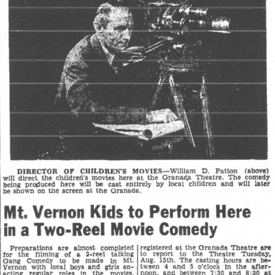 Mt. Vernon Register-News, August 14, 1950, courtesy of James Breig