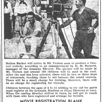 Mt. Vernon Register-News, August 7, 1950, courtesy of James Breig