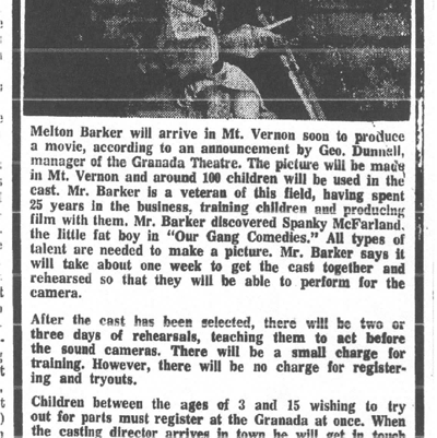 Mt. Vernon Register-News, September 8, 1972, courtesy of James Breig