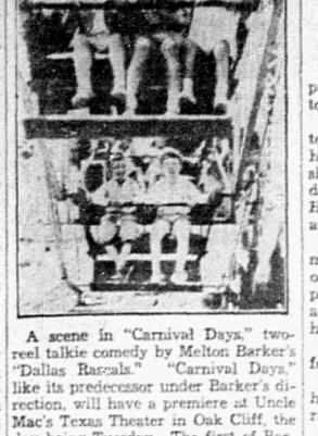 """Scene From Children's Dallas-Made Picture"" Dallas Morning News, May 2, 1932"