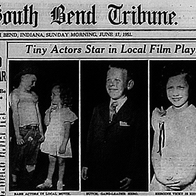 """Tiny Actors Star in Local Film Play"" South Bend Tribune, June 17, 1951, courtesy of Cynthia Harville"