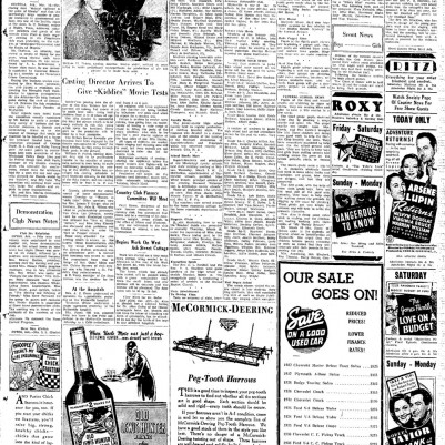 Blytheville Courier News March 18, 1938 full page