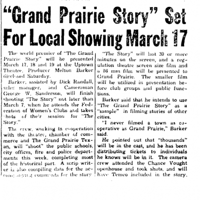Grand Prairie Texan February 22, 1953