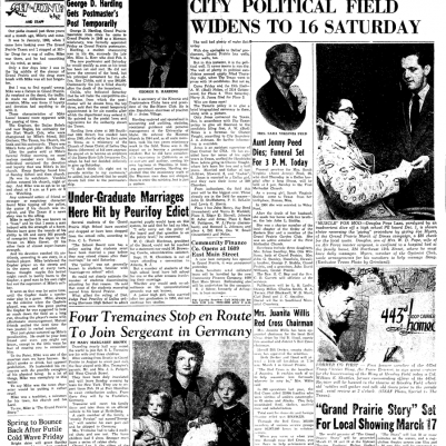 Grand Prairie Texan February 22, 1953 full page